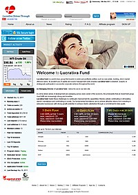 HYIP lucrativafund screenshot home page