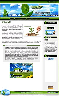 HYIP lucidnature screenshot home page