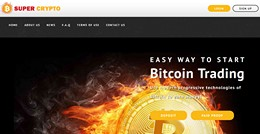 HYIP supercrypto.biz screenshot home page