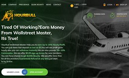 HYIP hourbull.com screenshot home page