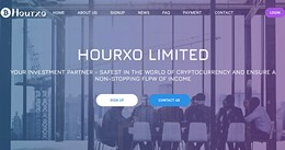 HYIP hourxo.biz screenshot home page