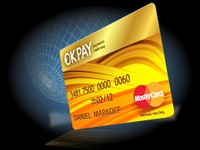 Okpay plastic debit card solution